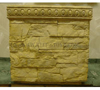 Бетонная декоративная цветочница древний пласт Д-002. 60 литров